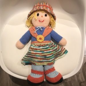 HANDMADE knitted doll - new condition